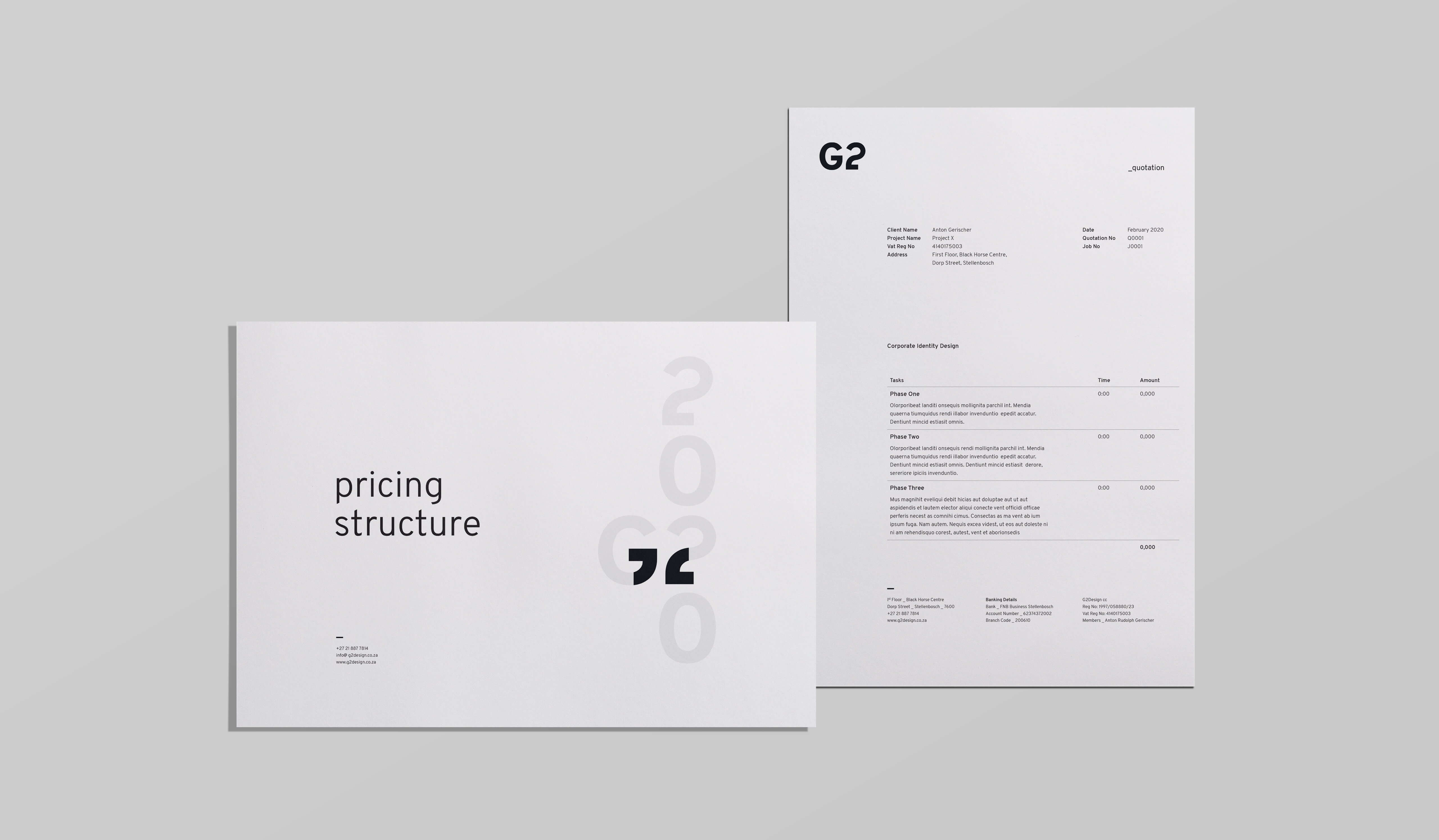 G2 quotes and invoices